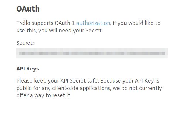 OAuth Key