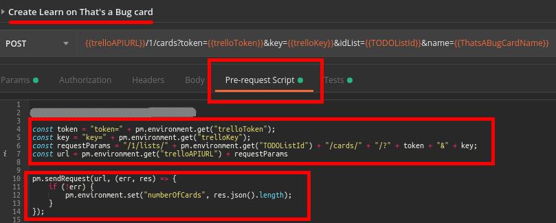 Pre-Request Script